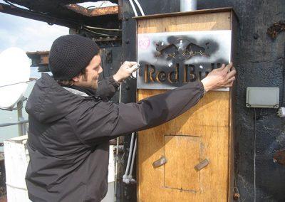 RedBull Oil Rig Vinyl Stecil