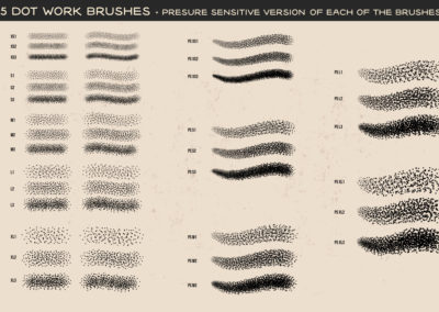 Tattoo Line Art Brushes AI