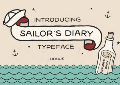 Sailor´s Diary Tattoo Style Typeface